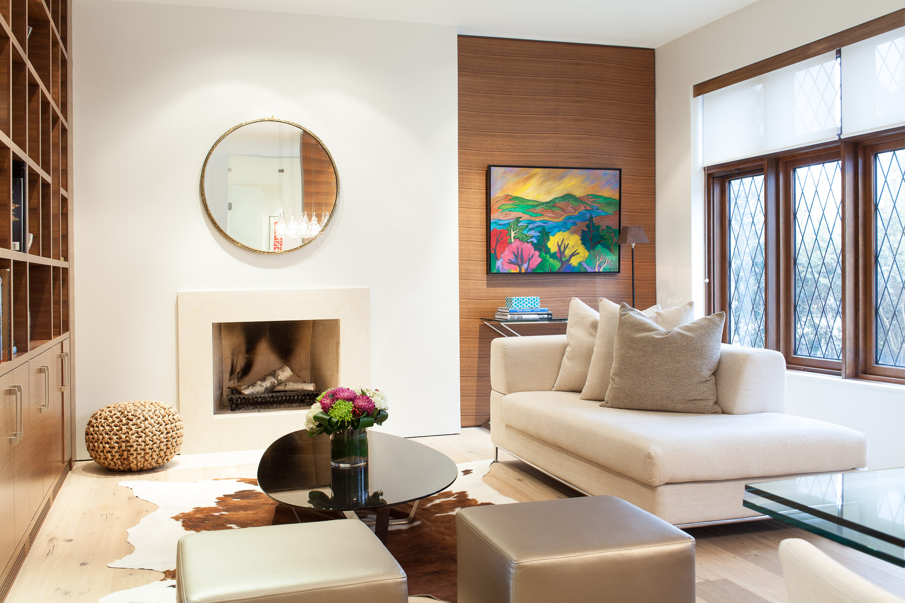 Contemporary Forest Hill Living Room
